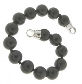 Parel-armband Onyx Parels 27-0511