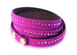 Luxueuze Fuchsia Armband van Spark Jewelry