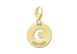 Names4ever Ronde Naambedel met Euroteken / Goud GNB06