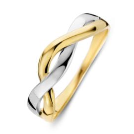 Excellent Jewelry Bicolor Ring met Intrigerend Ontwerp voor Dames