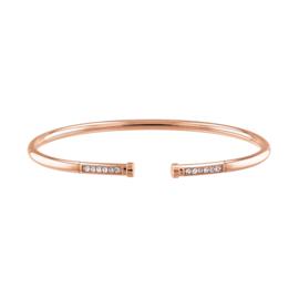Tommy Hilfiger Roségoudkleurige Bangle Armband met Zirkonia's TJ2780252