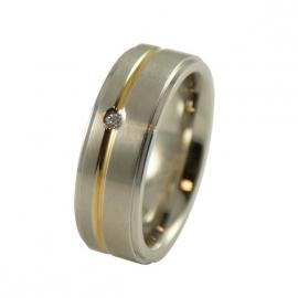 RELATIE-RING / Relatie-damesring - Graveer Ring TB2306
