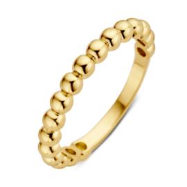 Excellent Jewelry Geelgouden Bolletjes Ring