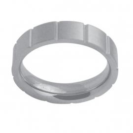 Reliëf Lijnen Ring van Edelstaal van C MY STEEL - Graveer Ring