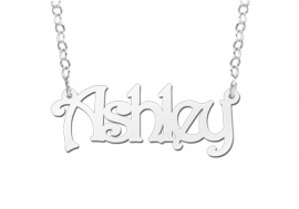 Names4ever Ashley Stijl Zilveren Naamketting
