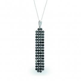 Stijlvolle Zwarte Swarovski Ketting van Spark Jewelry