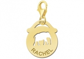 Names4ever Ronde Charm-Naambedel met Olifant GNDB017