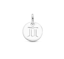 Tweeling Sterrenbeeld Hanger | Zilver