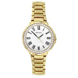Sekonda Goudkleurig Dames Horloge met Zwarte Romaanse Cijfers