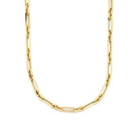 Gouden Collier Anker 5,0 mm 42 cm