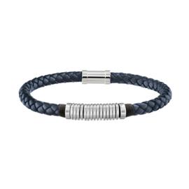 Tommy Hilfiger Heren Armband met Gevlochten Blauw Leder TJ2790155
