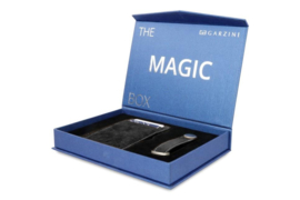 Garzini Gift Box met Carbon Zwarte Magic Wallet en Sleutelhanger