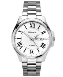 Sekonda Heren Horloge met Witte Wijzerplaat en Romaanse Cijfers