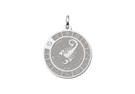 Zilveren Schorpioen Sterrenbeeld Bedel met Naam ZHS092 | Names4ever