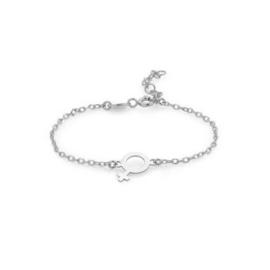 Super Stylish Zilveren Armband met Vrouwelijk Seksesymbool
