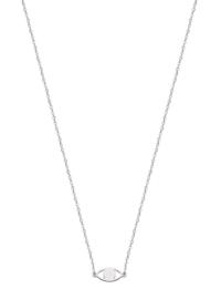 Super Stylish Zilveren Oog Hanger met Schakelketting
