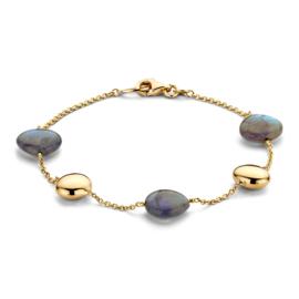 Excellent Jewelry Geelgouden Armband met Labradoriet Edelstenen