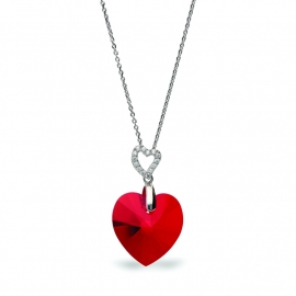 Tender Heart Rode Swarovski Ketting van Spark Jewelry