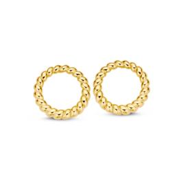Excellent Jewelry Gedraaide Oorstekers van Geelgoud