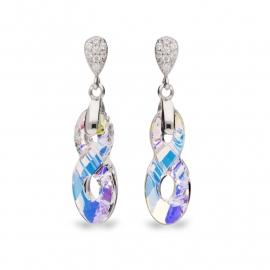 Infinity Swarovski Oorbellen van Spark Jewelry