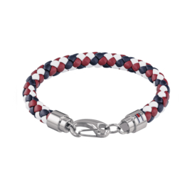 Tommy Hilfiger Armband Blauw Rood en Wit TJ2790046