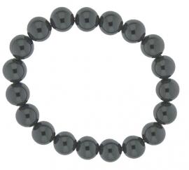Elastische edelstenen-armband / Hematiet 27-0518