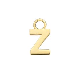 14K Geelgouden Oorringhanger met Letter Z
