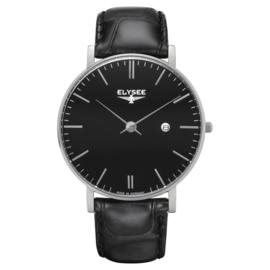 Zwart Zelos Heren Horloge van Elysee