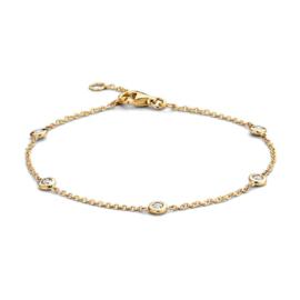 Excellent Jewelry Geelgouden Armband met 0,25 crt. Briljanten