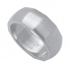 Gehoekte Ring van Edelstaal van C MY STEEL - Graveer Ring