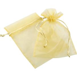 Organza zakje, medium in goudkleur