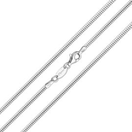 Zilveren Slangen Schakel Ketting van MY iMenso
