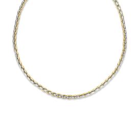Excellent Jewelry Stevig Bicolor Collier met Zware Schakels