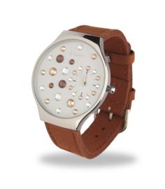 Ladybird Horloge met Brede Bruin Lederen Horlogeband van Spark