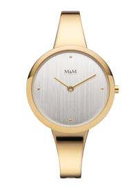 Goudkleurig Dames Horloge met Goudkleurige Edelstalen Horlogeband van M&M