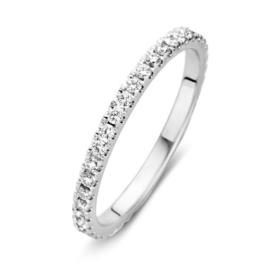 Excellent Jewelry Slanke Witgouden Ring met Briljanten 0,50 crt