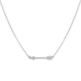 Super Stylish Zilveren Ketting met Pijl Hanger