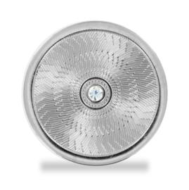 LOCKits Zilverkleurige Munt met Witte Zirkonia 33mm