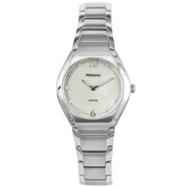 Zilverkleurig Titanium Dames Horloge met Sierdiamanten