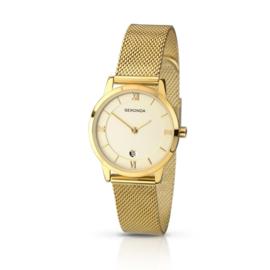 Sekonda Goudkleurig Dames Horloge met Milanese Horlogeband