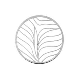Zilveren Cover Munt met Vloeiende Lijnen van MY iMenso