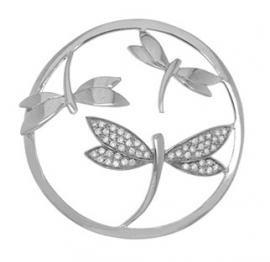 Zilveren Libelle munt MY iMenso