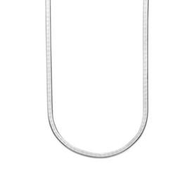 Zilveren Collier Plat 3,3 mm 40 + 5 cm