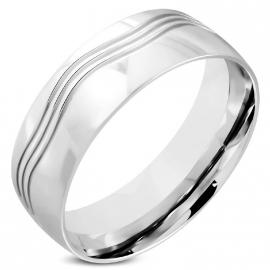 Stalen Wave Ring (Graveren mogelijk) SKU91348