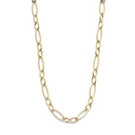 Excellent Jewelry Ovaalvormig Schakelcollier van Geelgoud
