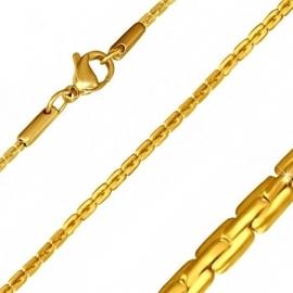 Goudkleurige Platte Schakel Ketting 45 cm SKU79887