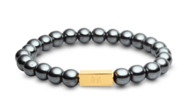 Essential Gold   Hematiet Kralen Armband van Blaauw Bloed
