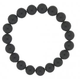 Elastische parel-armband / Onyx 27-0512