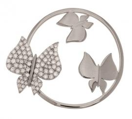 Zilveren Vlinders 3D Munt