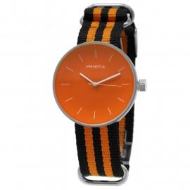Prisma Horloge Unisex Simpel Oranje Nato P.1243.23WG